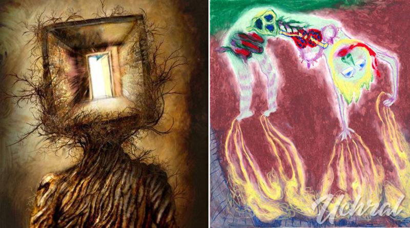 Шизофренитэй хүмүүсийн зурсан хачирхалтай зургууд